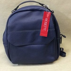 Navy Blue backpack purse bag Rossetti NWT